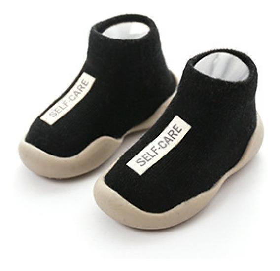 Primeros Zapato/botín Bebe Tipo Media Zuela En Goma Suave