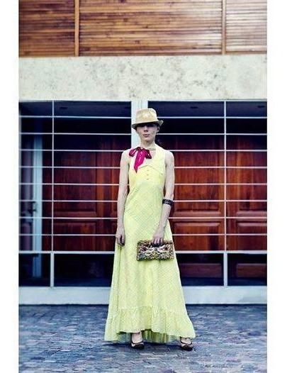 Vestido Vintage Largo