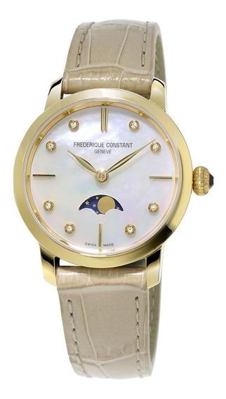 Reloj Frederique Constant Fc-206mpwd1s5 Para Dama Correa De Piel