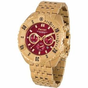 Relógio Ferrari Cronógrafo Dourado