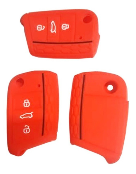 Funda Llave Vw Golf Jetta Mk7 Silicon Roja Volkswagen Rojo