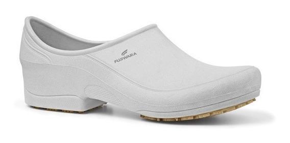 Sapato Branco Antiderrapante Feminino - Fujiwara