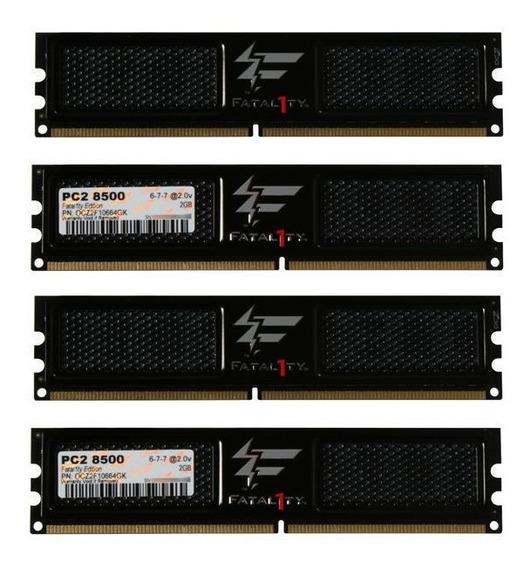 Memorias Pc Ocz Fatal1ty 4x2gb (8gb) Ddr2 1066 Pc2-8500