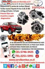 Reparación De Turbos Toyota Hilux 1kd 3.0 Guatemala