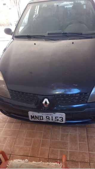 Clio Sedan 2004 - 4p, Ar Cond, Dir.hidr.,vidro Elet,desembaç