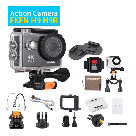 Camera Eken H9r Wi-fi+cartão Sd32classe 10 +boia