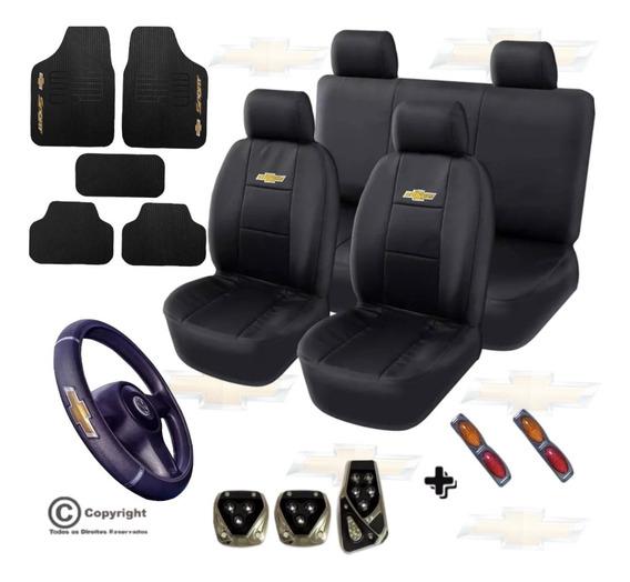 Kit Proteção Capa Couro Tapete Pedaleira Chevrolet + Brindes