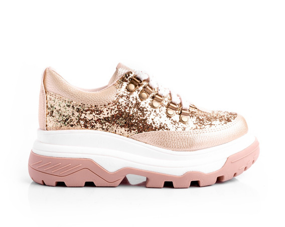 Zapatillas Mujer Sneakers Glitter Platafomas Urbanas Moda