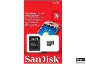 Cartão De Memória 16gb Micros Sdhc