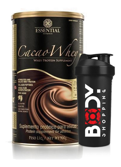 Cacao Whey 900g + Shaker - Essential Nutrition