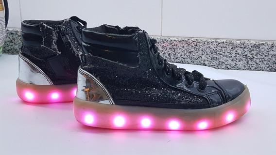Zapatillas Con Luces De Nena 29 Usadas Funcionando