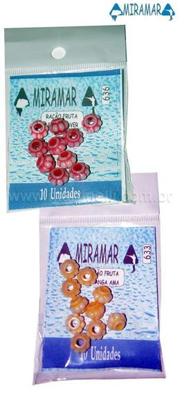 Ração Plástica Pitanga Miramar C/10 Pitanga Vermelha 636