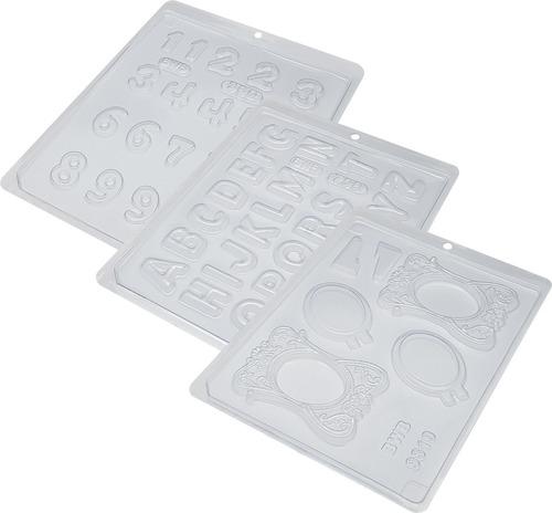 Imagem 1 de 4 de Pacote Acetato Forma Porta Retrato Médio /números /alfabeto