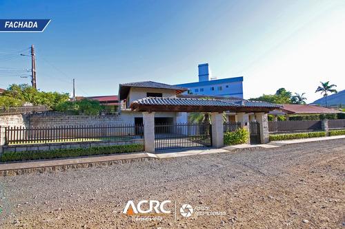 Acrc Imóveis - Casa Semi Mobiliada Com Amplo Terreno Para Venda No Bairro Itoupava Central - Ca01390 - 67876293