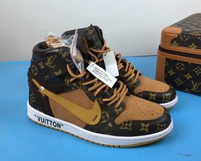 Tênis Nike Air Jordan 1 Retrô Off White Brown Original