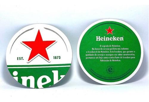 Bolacha De Chopp Heineken - 100 Peças  Bolachão 12 Cm Top.