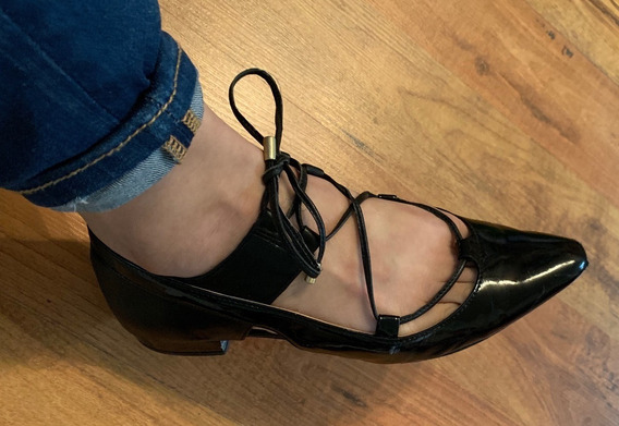 Hermosos Zapatos Flats Calvin Klein Multi Cord Negros 23 Ori