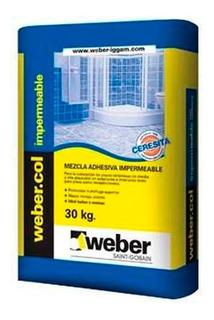 Pegamento Weber Col Impermeable Para Ceramica X 30 Kg