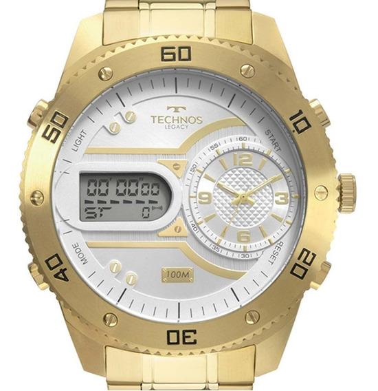 Relógio Technos Masculino Legacy 2039cb/4x Dourado + Nota