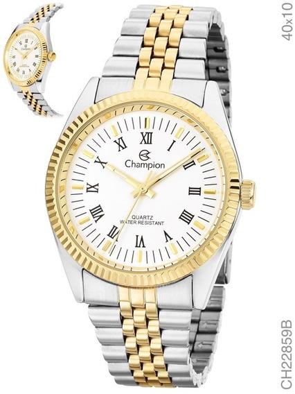 Relógio Masculino Social Champion Dourado/ Prata Ch22859b