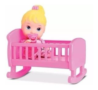 Boneca Baby Bebê Little Dolls Alive Bercinho Brinquedos