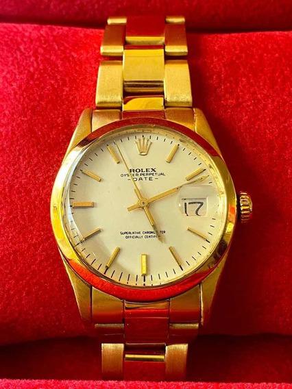 Rolex Date 34mm Todo Ouro Amarelo 18k , Promoção!!!