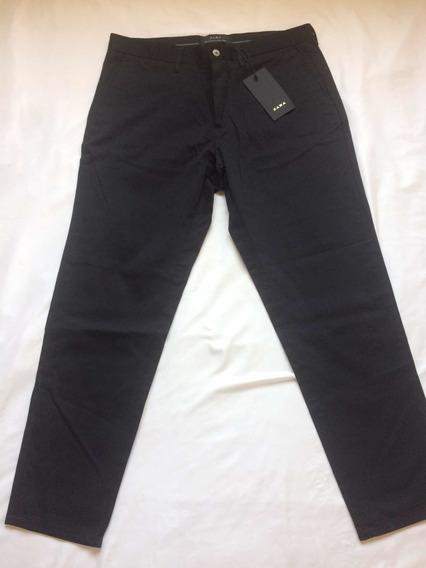 Pantalón Caballero Zara De Vestir Negro