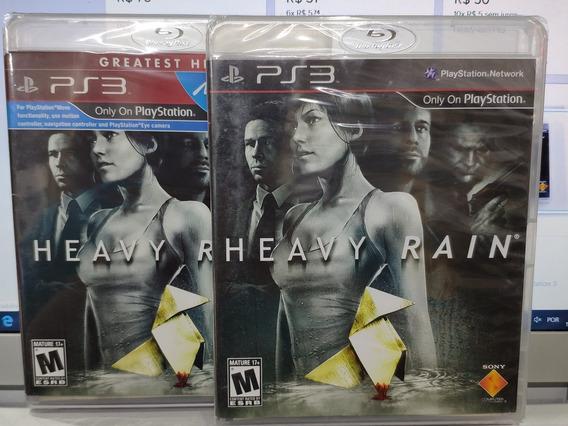 Jogo Heavy Rain Playstation 3, Mídia Física, Lacrado