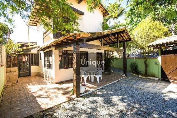 Casa Em Geribá, A 80 Metros Da Praia, Com 3 Dormitórios Para Alugar Temporada. - Ca0457