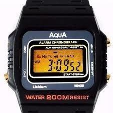Relogio Aqua Aq-91 Retrô Aprova Dagua