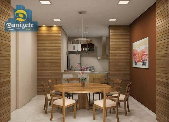 Apartamento Com 3 Dormitórios À Venda, 85 M² Por R$ 385.000,10 - Vila América - Santo André/sp - Ap7622