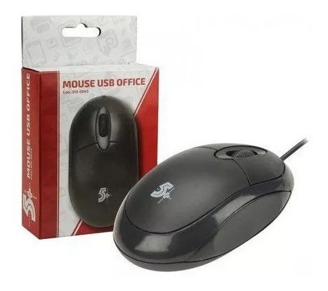 Mouse Usb Office 5+ Novo 1000dpi Preto 015-0043