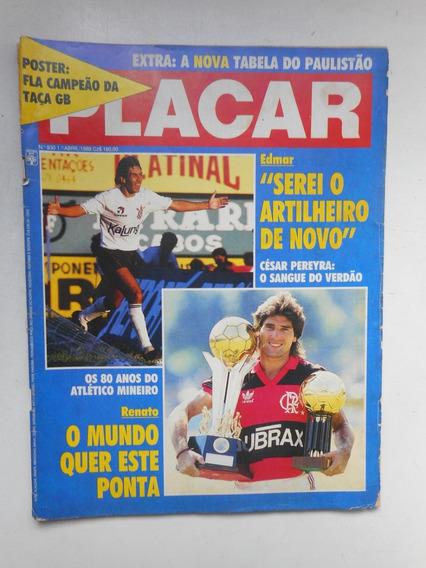 Revista Placar Placar N] 930 - Abr/1988 - Pôster Flamengo