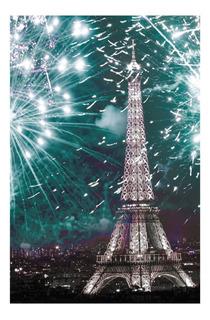 Cuadro Decorativo Eiffel 1 Pz Casa Moderno Crown Baccara