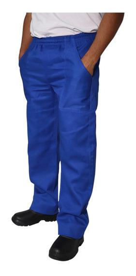 Kit C/1 Calça Em Brim Pesado Saldado E Mecânico Azul