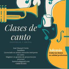 Clases De Canto Y Grabación Profesional