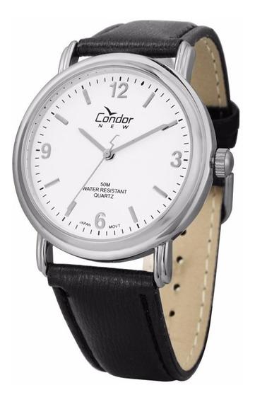 Relógio Condor Masculino Co2035af/3b Couro Prata Oferta