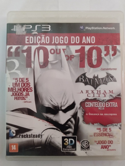Jogo Ps3 - Batman Arkham City