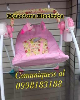 Mesedora Para Bebé Eléctrica Color Rosado Y Celeste