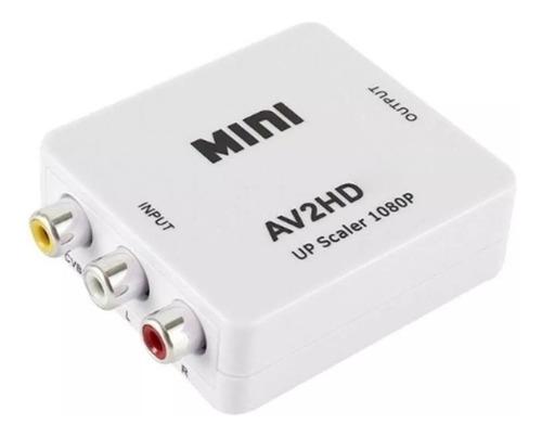 Conversor Ditron Adaptador Video Rca  Av2 A Hd 720p  1080p