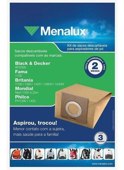Saco Para Aspirador De Pó Menalux, 3 Unidades - Sim01
