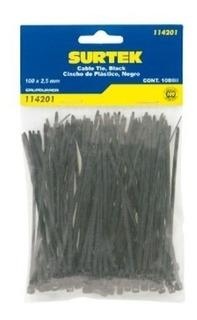 Surtek-cincho Plástico 150 X 3.6mm 50piezas Negro*114205