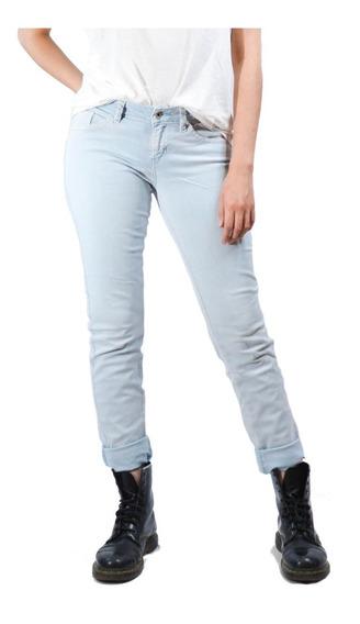 Pantalón De Mezclilla Azul Claro Guess