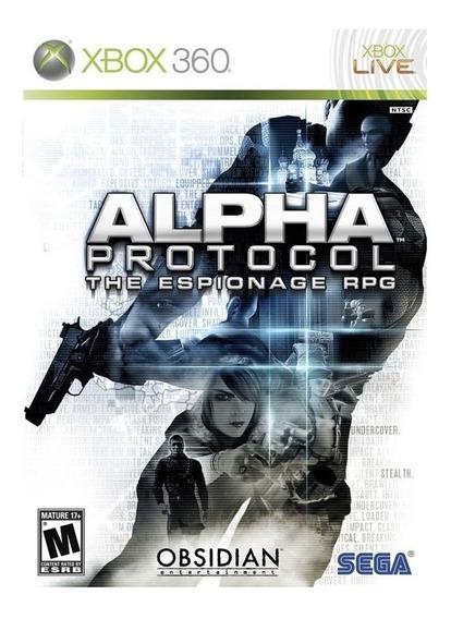 Jogo Alpha Protocol The Espionage Rpg - Xbox 360