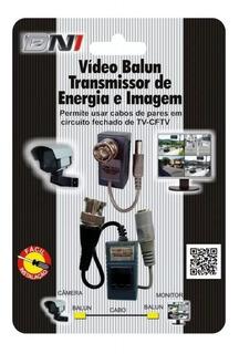 Conversor Passivo Video Balun 300m C/alimentação Dni 5013