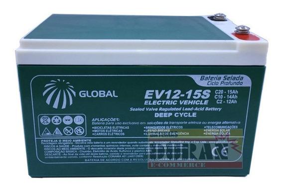 Bateria Gel Global 12v 14ah 6-dzm-12 Moto E Carro Elétrico.
