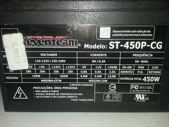 Fonte Seventeam 450wr - Modelo St-450p-cg