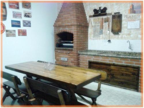 Sobrado Com 3 Dormitórios À Venda, 190 M² Por R$ 636.000,00 - Vila Aquilino - Santo André/sp - So0887