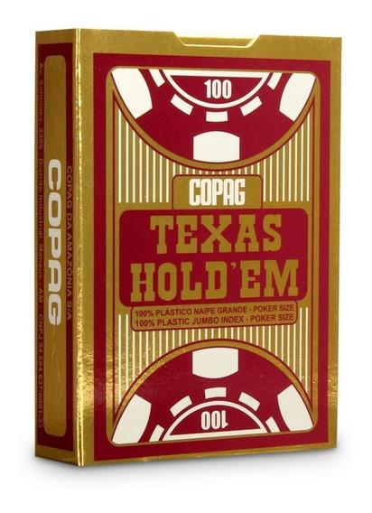 Baralho Texas Holdem Vermelho Copag
