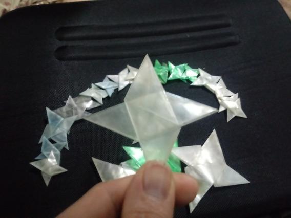 Artesanato Com Garrafa Pet: Estrelas Ninjas